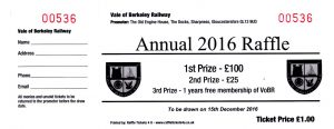 Raffle Tickets Now Available » Vale of Berkeley Railway